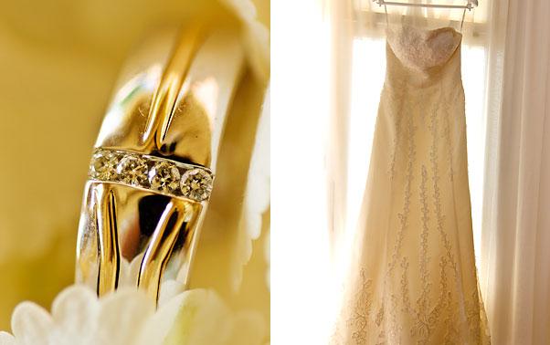 Verigheta cu diamante si rochia de mireasa Mihaela Constanta